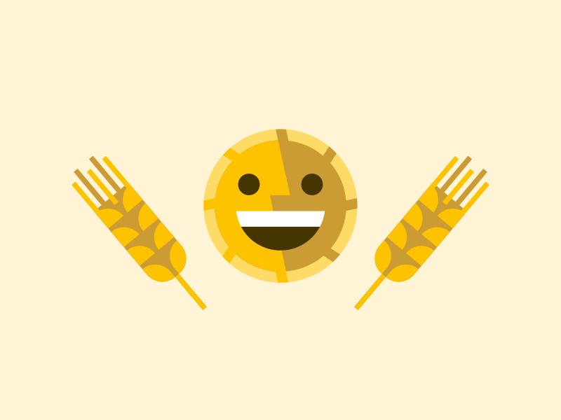 Happy Kansas Sun illustration wheat sun happy kansas smile midwest state pride
