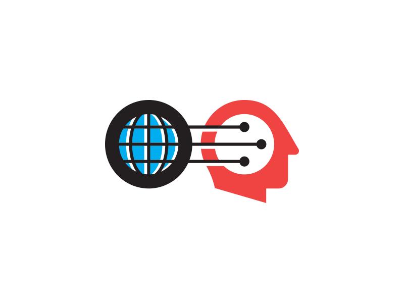 FGF illustration icon head brain thinking connection prediction trends economics globe global