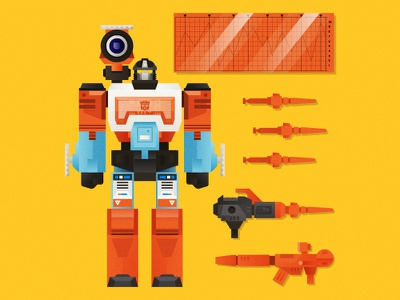 G1 Perceptor - Heroic Autobot Scientist decoder rifle missile launcher microscope weapons illustration 1980s action figure toy robot robots in disguise transformer