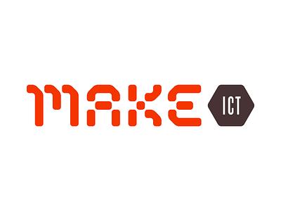 MakeICT 1 stencil identity makerspace maker make type logo logotype