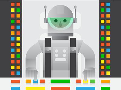 Spaceship Pilot spaceship ui helmet illustration character buttons astronaut science fiction scifi space