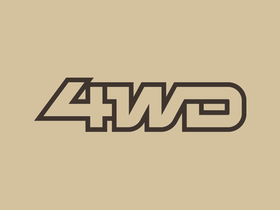 4WD adventure vehicle thick lines typography decal offroad 4x4 4-wheel drive 4wd