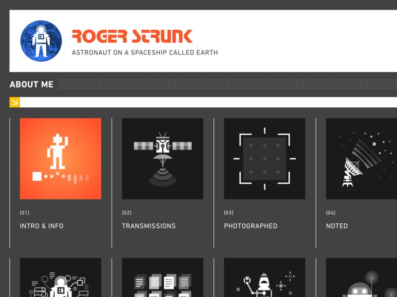 New Website vector robots science fiction scifi grid illustration icons astronaut website animated svg ui space web design