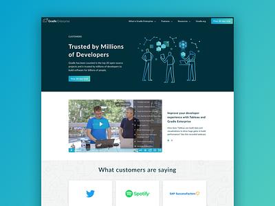 Gradle Enterprise Customers developers web enterprise illustration software customers ui  ux web design