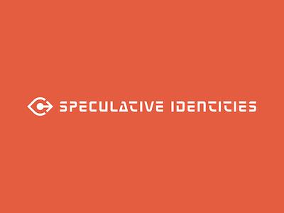 Speculative Identities visual identity typography design forward eye future science fiction scifi branding identity logotype logo