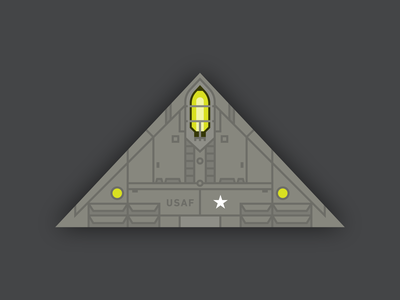 Experimental Aircraft vector triangle area 51 top secret military planet ufo aircraft flight science fiction technology illustration