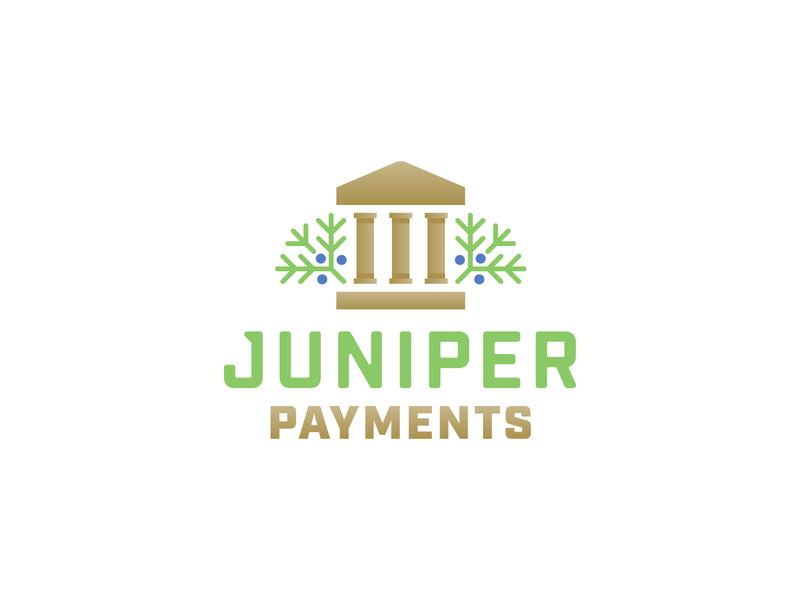 Juniper Payments money transfer payments money technology financial banking app institution plant berries juniper pillars banking bank visual identity identity design logotype logo
