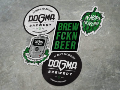 Dogma Brewery - Stickers green hops illustrator sticker craftbeer brewery