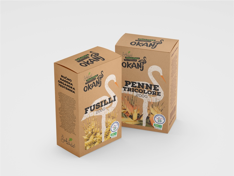 Okanj - Package Box organic natural pasta stork package box