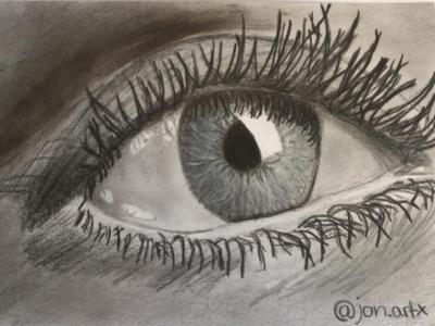 view in the future pencil drawing pencil art drawing pencil blackwhite view eyeball eye future artwork artist art design illustration