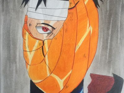 Tobi fight rain akatsuki obito naruto mangaart manga japan drawing design comic anime character illustration art