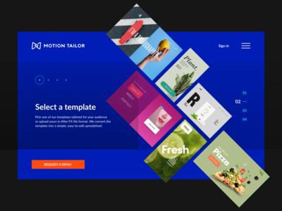 motion tailor site concept