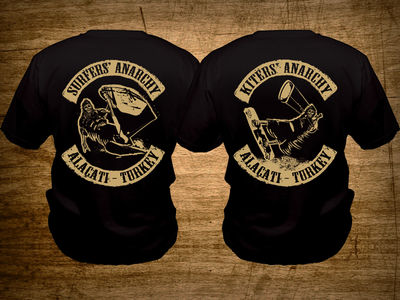 Surfers' & Kiters' Anarchy sons of anarchy tshirt tshirt design t-shirt shirt design