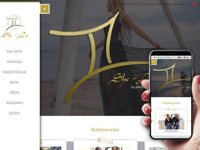 She La Fashion Website web design webdesign fashion