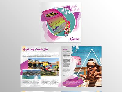 Surf school catalogue design design print catalogue