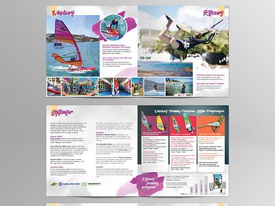 Surf school catalogue catalogue design brochure design