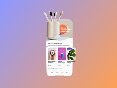 Sustainable future starts from the little things ux figma design ui