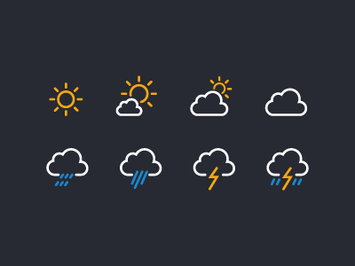 Weather underground icons preview
