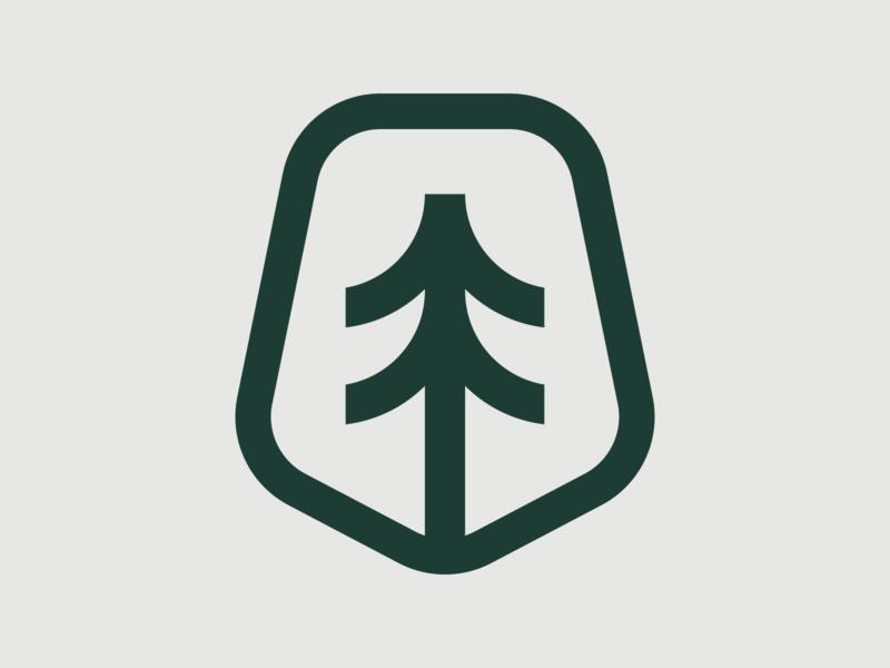 Backcountry Crest badge illustration backcountry adventure monoline identity branding arrow tree crest green logoinspirations simple logo