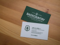 Backcountry Business Cards