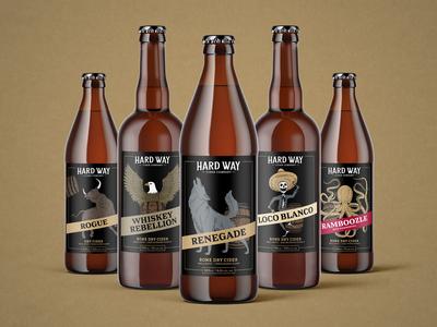 Hard Way Cider Packaging
