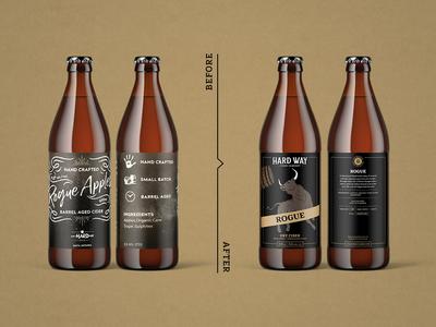 Hard Way Cider Label Design