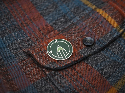 Create You Own Path Enamel Pin arrow adventure green north pencil compass custom pin enamel pin