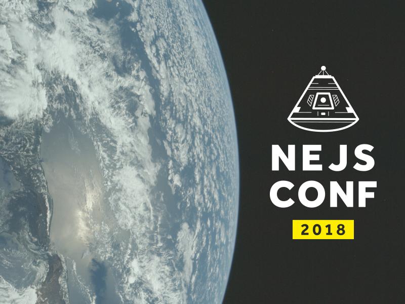 NEJS Conf 2018 illustrator black yellow earth saturn apollo space vector javascript logo conference branding