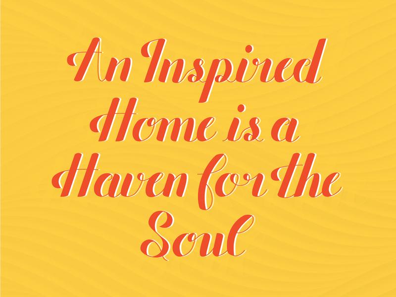 Lettering #1 texture decor home lettering orange yellow design vector illustrator illustraion handlettering