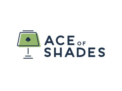 Ace of Shades furniture interior design spades illustrator lighting lamp shades logo branding