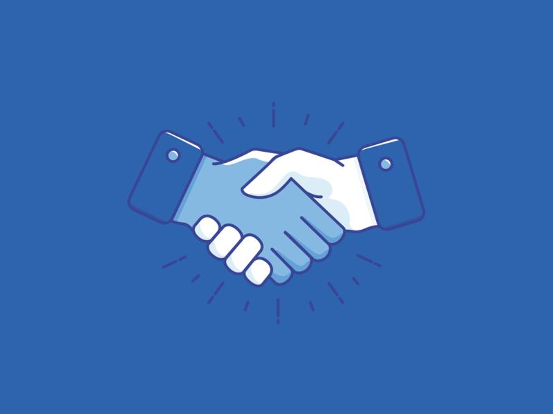 Shake it Up insurance icon hand handshake branding blue illustration illustrator vector