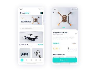 Drone Store Concept Design app uix branding interaction dribbble dailyui daily userinterface uidesign application ios design ux ui drones drone