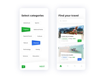 Travel App branding dribbble uidesign design userinterface interaction instaui gifux uitrends uilib ux ui holiday vocation feed travel