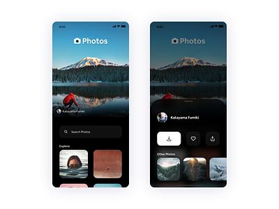 Photos App splash unsplash iphone 11 screen wallpapers wallpaper photo photos uidesign userinterface ux ui design