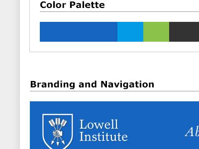 Lowell Institute Redesign