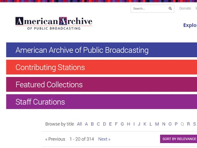 American Archive of Public Broadcasting bootstrap wgbh