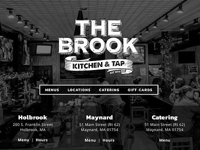 The Brook Kitchen & Tap drupal design web design