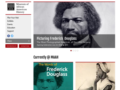 Museum of African American History design web