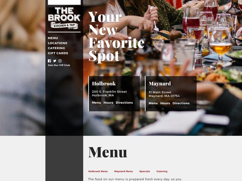 The Brook Kitchen & Tap - Design v2 drupal front end development web design