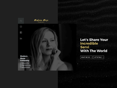 Modern Muse Company design wordpress front-end development web design