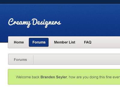 XenForo Design forum software update client work