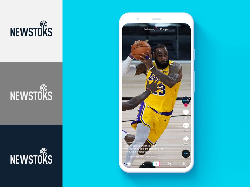 NewsToks Pixel Mockup pixel google design icon typography symbol mark tiktok basketball nba identity logo branding