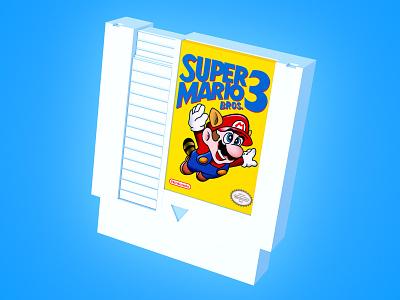 Super Mario Bros. 3 Hall of Fame Edition! design washington dc gamer videogames amiibo retrogaming retro gameboy zelda luigi mario supermario n64 modeling 3d cinema4d cartridge snes nintendo