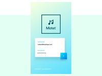 Motet™Music App - Brand Identity & UI Design