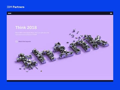 IBM Partners - Think 2018 sketch design ui think ibm partners ibm