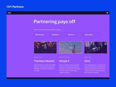 IBM Partners - Partner Showcase sketch design ui ibm partners ibm