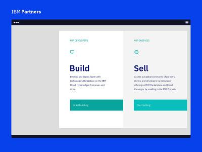 IBM Partners - Build and Sell sketch design ui ibm partners ibm