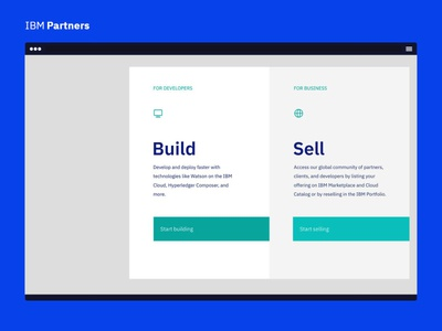 IBM Partners - Build and Sell sketch design ui ibm partners ibm