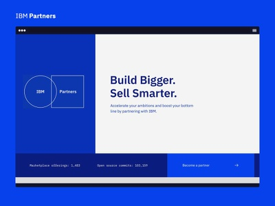 IBM Partners - Welcome UI sketch design ui ibm partners ibm