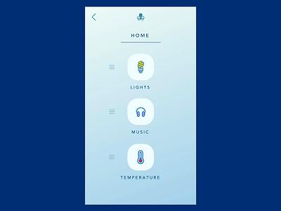 Octoport - IoT App - UI/UX design ui design app design product design ux ui temperature music mobile app iot octoport
